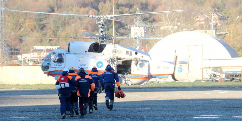 В Тульской области вертолет МЧС совершил вынужденную посадку